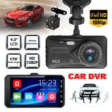 1080P Dual Lens 4.0''Touch FHD 170°Car DVR Reversing Camera Video Dash Recorder