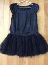 Gap Kids Girl Short Sleeve Black Dress, Size XS 4-5