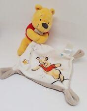 Doudou WINNIE  Disney Baby Nicotoy Mouchoir blanc marron gris beige étoile NEUF