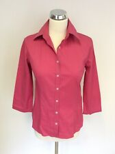 YVES SAINT LAURENT PINK COTTON  3/4 SLEEVED SHIRT SHIRT SIZE 38 UK 10