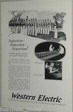 1925 Western Electric advertisement, candlestick telephone testing