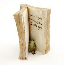 "2.75"" Frog Hiding in Book Statue Miniature Fairy Garden Dollhouse Terrarium"