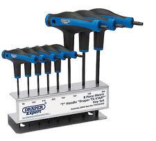 NEW Draper 8 Pce T-Handle Metric TORX/TRX/TX Key/Wrench Set T9-T40 + Stand 33872