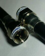 1m 1 metre TV Antenna Cable, Foxtel Cable, Double Bubble, F type (M) - (M) RG6Q