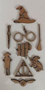 Wooden MDF Harry Potter Shapes Craft x10 Embellishments