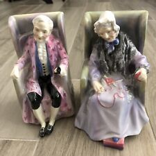 Royal Doulton Porcelain Figurines Darby & Joan. Hand Painted, c1940