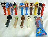 PEZ DISPENSER LOT SET OF 16 WITH FEET VARIOUS PEANUTS SNOOPY MICKEY MOUSE POOH