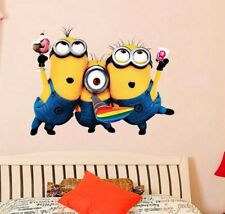 Cute Minions Buddy Wall Stickers For Child Kids Despicable Me Rooms Bedroom