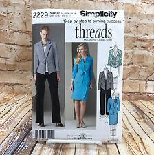 Simplicity 2229 Womens Plus Size Petite Jacket Pants Skirt Suit Sz 16 24 Pattern