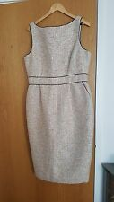 BADGLE MISCHKA cocktail dress in high-quality silver/pink tweed (US 16)NEW