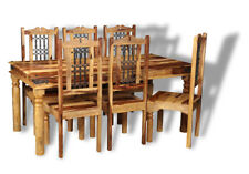 JALI LIGHT SHEESHAM FURNITURE 180CM DINING TABLE AND 6 JALI CHAIRS (J42L&6J46L)