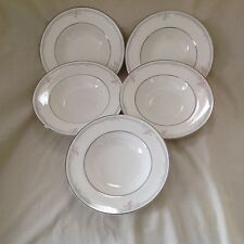 """5 X ROYAL DOULTON CARNATION 8"""" RIMMED BOWLS EXCELLENT USED CONDITION"""