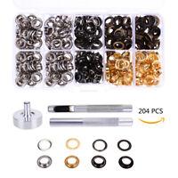200 Set Ösen mit Scheibe 10mm Durchmesser Ösenzange Ösenwerkzeug - Kupfer