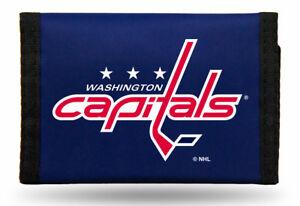 NHL Printed Tri-Fold Nylon Wallet RICO -Select- Team Below