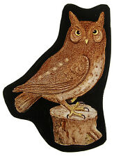 Owl stained glass fragment, kilnfired stained glass, owl suncatcher, owl, hibou