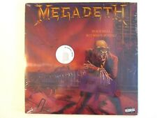 "MEGADETH PEACE SELLS...BUT WHO""S BUYING? LP NEW U.S. SEALED 180 GRAM METALLICA"