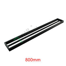 800MM Double Black Towel Rack Rail Hanger Wall Holder Stainless Steel 304 Square