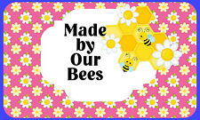 21 Honey Bee Keeping, PERSONALISED Glossy Craft Stickers, Seals Labels (215)
