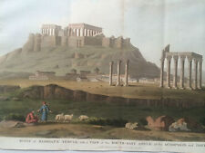 Hobhouse 1813 Aquatint Folio ATHENS Hadrian's Temple Acropolis Parthenon GREECE