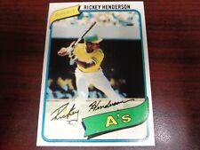 1980 Topps Rickey Henderson #482 REPRINT Rookie Card-A's