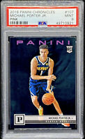 Michael Porter Jr 2018-19 Panini Chronicles Pink Rookie RC #107 PSA 9 POP 1
