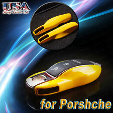 Yellow Smart Key Shell Key Case Cover for Cayenne Macan 911 918 Boxter Panamera