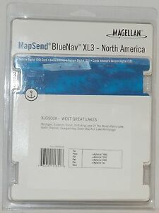 NEW Magellan MapSend BlueNav North America Maps XL3 GREAT LAKE SD Card eXplorist