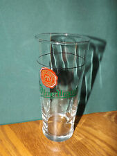 PILSNER URQUELL BEER GLASS, TALL, SLIGHTLY SPIRALED, CZECH REPUBLIC