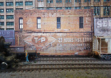 #246 N scale background building flat   T and P  * FREE SHIPPING*