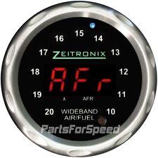 Zeitronix Zt-3 Wideband O2 Sensor System AFR & ZR-1 Silver Gauge Red LED