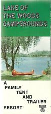 Lake of the Woods Campgrounds Tent Trailer Resort Wautoma Wisconsin Brochure