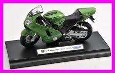 Blitz envío Kawasaki Ninja zx-12r verde nuevo moto modelo Welly 1:18 OVP
