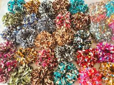 Joblot 40 pcs silk hair Bobble Mixed colour hair scrunchies NEW wholesale lot C