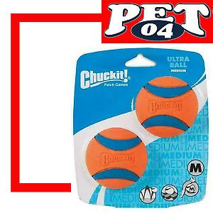 Chuckit! Ultra Ball, Medium, Orange/Blue, 2pk