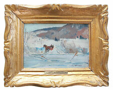 LORNE H. BOUCHARD R.C.A. - 'The Ice Bridge' - Oil on Panel - Framed - Circa 1950