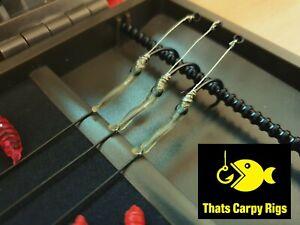 3 Medusa Rigs / Korda N Trap Hooklink / 6 FREE Maggot Hookbaits - Carp Rigs