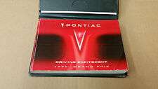 1999 Pontiac Grand Prix OEM Owner's Manual With Leather Pouch