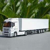 1/50 Mercedes Benz Actros Container Truck Trailer White Diecast Car Model
