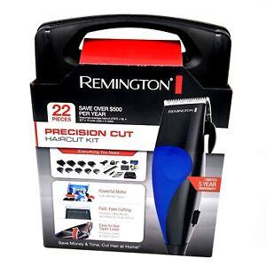 Remington Precision Cut Haircut Clippers Kit w/ Storage Case - 22 Pc - HC-2000