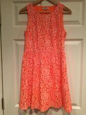 Madewell Bright Orange Floral Lace Sleeveless Dress, Size 4
