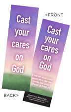 Youth Christian Bookmark, Cast Your Cares on God, 1 Peter 5:7 - Pack of 25