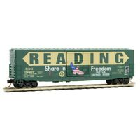 Reading 'Freedom' paint 50' Standard Boxcar Micro-Trains MTL #18000060 N-Scale