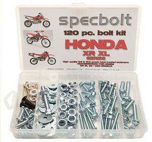SPECBOLT 120pc Bolt Kit HONDA XR XL BOLT KIT 50 250 400 600 650