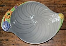 Shorter & Son Harmony Large Grey Spiral Dish with Raised Floral Design 33cm