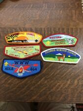 #1 Lot Of 5 Mostly Council BSA Boy Scouts Patch