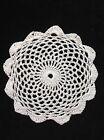 "Handmade 4.5"" 11cm white vintage doilie doily doiley crochet lace round"