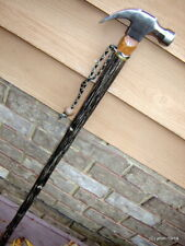 black HICKORY/CLAW-HAMMER Walking-Stick big-man-cane 400 lb rate~Made in USA