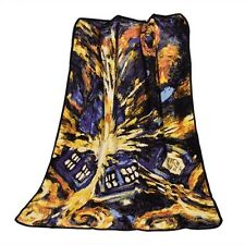 Dr Doctor Who Tardis Coral Fleece Blankets Police Box Throw Blanket Carpet Bed