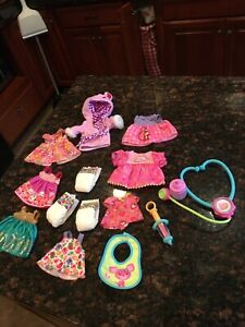 Baby Alive Doll Lot Clothing Accessories Various Sizes Hasbro Outfits