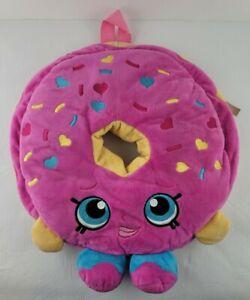 Shopkins D Lish Donut Pink Sprinkles Soft Plush Backpack